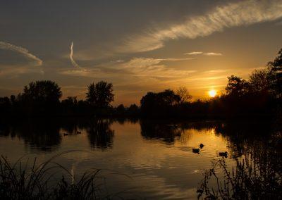 Sunset am See_Ortenberg_Horst