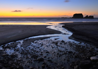 Beach at Dusk, Cape Foulwind, Westport, South Island, Tasman, New Zealand